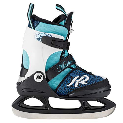 K2 Mädchen Marlee Ice Skates Schlittschuhe, Schwarz/Blau/Hellblau, 35-40 EU