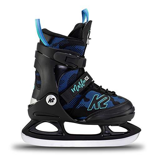 K2 Skates Mädchen Schlittschuhe Marlee Ice — camo – Blue — EU: 35 – 40 (UK: 3 – 7 / US: 4 – 8) — 25E0020